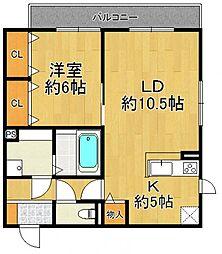 (仮称)富松町D-room[102号室]の間取り