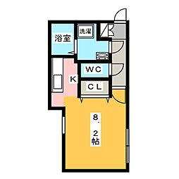 愛知県名古屋市千種区丸山町1丁目の賃貸マンションの間取り