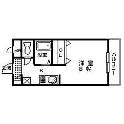 オオタニビル[5階]の間取り