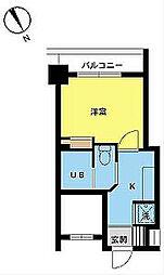 スカイコート三田慶大前[12階]の間取り