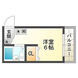 パームハイツ[2階]の間取り