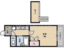 プレステージ桜ノ宮[9階]の間取り
