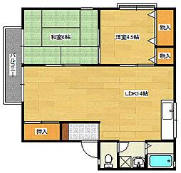 セジュール澤井D棟[1階]の間取り
