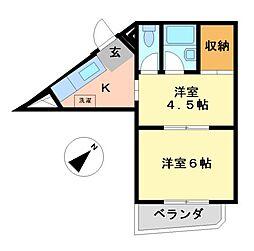 メゾンノーブル[6階]の間取り