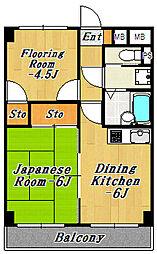 WAKOHマンション56[3階]の間取り