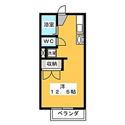 朝日ヶ丘コーポ[1階]の間取り