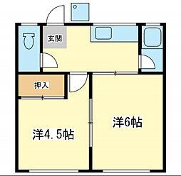 みやび荘[1階]の間取り