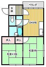 シティコーポII[1階]の間取り