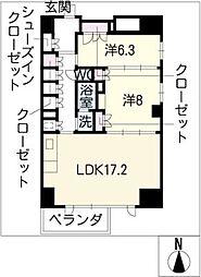 エスティメゾン葵[12階]の間取り
