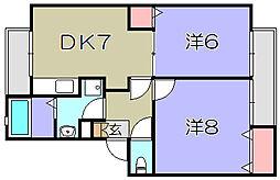 ラルジュS[1階]の間取り