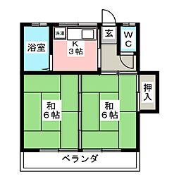 丹野アパート[2階]の間取り