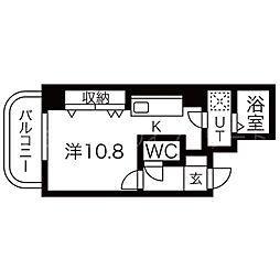 E-horizon円山[2階]の間取り