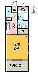 クライミングマンション[405号室]の間取り