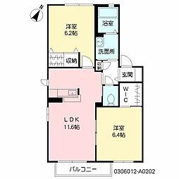 スクーデリア2006A棟[2階]の間取り