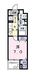 シャンブル湘南III[2階]の間取り