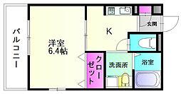 福岡県大野城市曙町1丁目の賃貸マンションの間取り