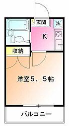 ピッコロモンド3[1階]の間取り