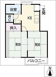 アトウレ加藤[1階]の間取り