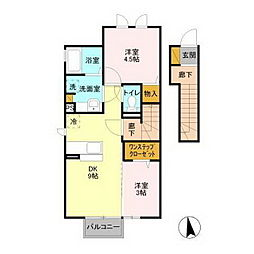 東原シティハウス[2階]の間取り