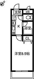 プリミエ−ル八田III[102号室]の間取り