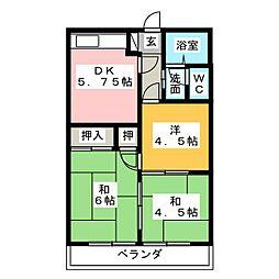 エクセルミキ[2階]の間取り