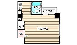 エクセランス梅田西[3階]の間取り