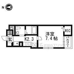 阪急京都本線 富田駅 バス20分 芝生住宅南下車 徒歩2分の賃貸マンション 1階1Kの間取り