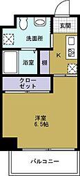JJ COURT市岡元町[3階]の間取り