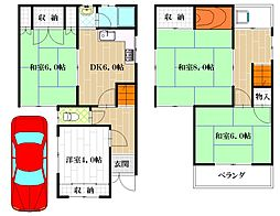 [一戸建] 大阪府八尾市植松町6丁目 の賃貸【/】の間取り