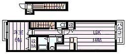 ルミエール・K[2階]の間取り