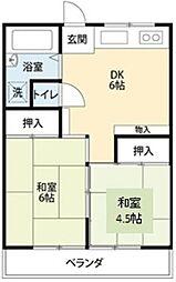 東京都豊島区千川2丁目の賃貸マンションの間取り