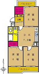 東京都町田市南成瀬1丁目の賃貸マンションの間取り