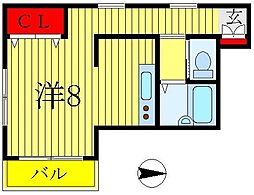 メゾン松戸[2階]の間取り