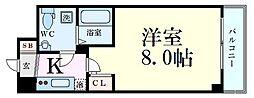 Osaka Metro御堂筋線 新大阪駅 徒歩9分の賃貸マンション 2階1Kの間取り