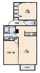 フォルトゥーナE[2階]の間取り
