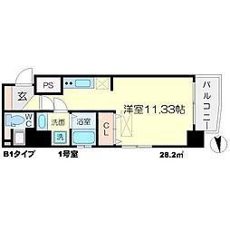 アスール江坂3rd[11階]の間取り