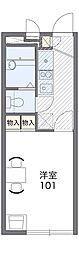 阪急千里線 山田駅 バス18分 下山田下車 徒歩4分の賃貸アパート 1階1Kの間取り