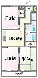 プレヤーデンA[3階]の間取り
