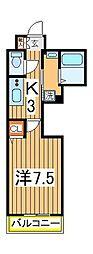 柏808タワー[4階]の間取り