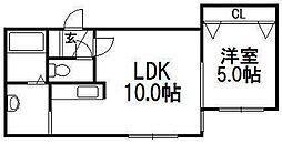 レジナス澄川[4階]の間取り
