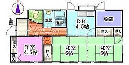 [一戸建] 岡山県岡山市北区津島新野1丁目 の賃貸【/】の間取り