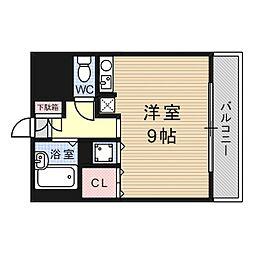 シャトーボヌール今城[2階]の間取り