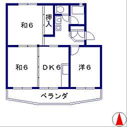 サンハイム富士見[305号室]の間取り