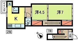 [一戸建] 東京都杉並区高円寺南1丁目 の賃貸【東京都 / 杉並区】の間取り