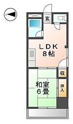愛知県清須市須ケ口駅前1丁目の賃貸マンションの間取り