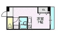 アリタマンション京橋[3階]の間取り