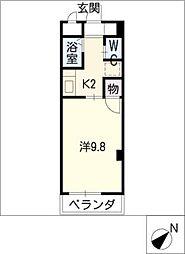 ヴィレッジ杉田C棟[3階]の間取り