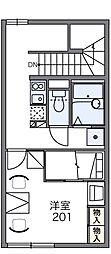 レオパレスレミナール並木[2階]の間取り
