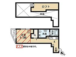 riviere大楠(リヴィエール)[2階]の間取り