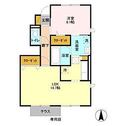 千葉県柏市船戸3丁目の賃貸アパートの間取り